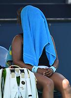 MIAMI GARDENS, FL - MARCH 31: Maria Sakkari Vs Naomi Osaka during the quarterfinals at the 2021Miami Open at Hard Rock Stadium on March 31, 2021 in Miami Gardens, Florida. <br /> CAP/MPI04<br /> ©MPI04/Capital Pictures