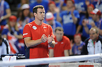 Leon Smith, GB Coach, MARCH 06, 2016 - Tennis : Leon Smith, GB Coach during the Davis Cup by PNB Paribas , World Group first round fourth rubber between Great Britain and Japan at The Barclaycard Arena, Birmingham, United Kingdom. (Photo by Rob Munro/AFLO)