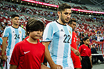 Eduardo Salvio of Argentina during the International Test match between Argentina and Singapore at National Stadium on June 13, 2017 in Singapore. Photo by Marcio Rodrigo Machado / Power Sport Images