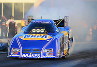 May 4, 2012; Commerce, GA, USA: NHRA funny car driver Ron Capps during qualifying for the Southern Nationals at Atlanta Dragway. Mandatory Credit: Mark J. Rebilas-