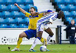 Kilmarnock v St Johnstone....03.03.12   SPL.Lee Croft and Mohamadou Sissoko.Picture by Graeme Hart..Copyright Perthshire Picture Agency.Tel: 01738 623350  Mobile: 07990 594431