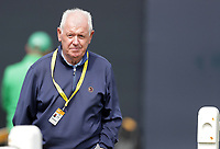 16th July 2021; Royal St Georges Golf Club, Sandwich, Kent, England; The Open Championship Tour Golf, Day Two; Gerry McIlroy, father of Rory McIlroy (NIR) follows his son's group from the first tee