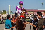 SEP 1,2014:Wake Up Nick,ridden by Mario Gutierrez,wins the I'm Smokin Stakes at Del Mar in Del Mar,CA. Kazushi Ishida/ESW/CSM