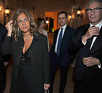 EMMA MARCEGAGLIA CON IL MARITO ROBERTO VANCINI <br /> PREMIO GUIDO CARLI - SESTA EDIZIONE<br /> PALAZZO DI MONTECITORIO - SALA DELLA REGINA CON RICEVIMENTO A VILLA AURELIA ROMA 2015