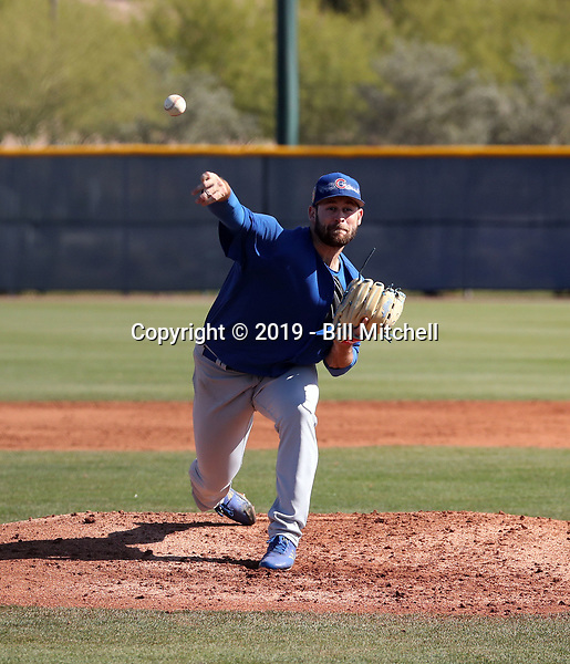 Cory Abbott - Chicago Cubs 2019 spring training (Bill Mitchell)