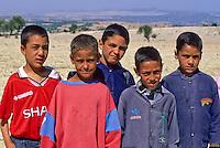 Tunisia, Le Kef.  Tunisian Schoolboys.