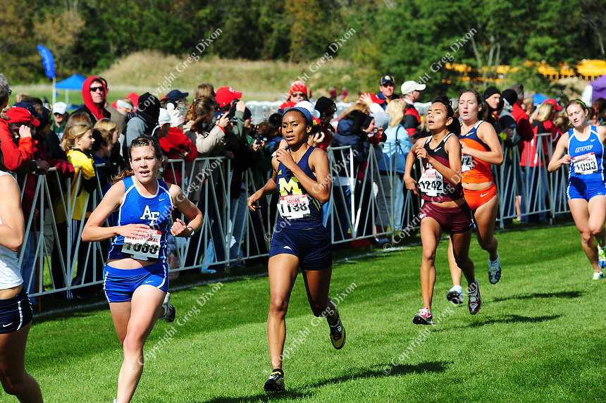 The University of Michigan women's cross country team competes at the Adidas Invitational 2010 Big Ten Conference Cross Country Championships on Saturday at the Zimmer Cross Country Course in Madison
