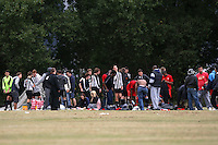Railway Tavern players are seen getting changed after an East London Sunday League match at Hackney Marshes - 13/09/09 - MANDATORY CREDIT: Gavin Ellis/TGSPHOTO - Self billing applies where appropriate - Tel: 0845 094 6026