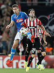 Athletic de Bilbao's Benat Intxausti (r) and SSC Napoli's Jorginho during Champions League 2014/2015 Play-off 2nd leg match.August 27,2014. (ALTERPHOTOS/Acero)