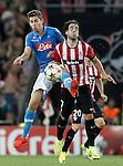 Athletic de Bilbao's Benat Intxausti (r) and SSC Napoli's Jorginho during Champions League 2014/2015 Play-off 2nd leg match.August 27,2014. (ALTERPHOTOS/Acero)