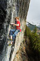 Tom Livingstone on 'La Ligne Noire' 8a+, Bionnassay, France