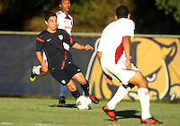 MIAMI, FL - DECEMBER 21, 2012:  Daniel Garcia of the USA MNT U20 during a closed scrimmage with the Venezuela U20 team, on Friday, December 21, 2012, At the FIU soccer field in Miami.  USA won 4-0.