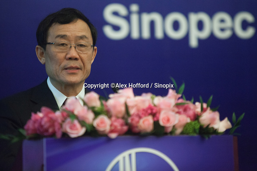 "China Petroleum & Chemical Corporation (Sinopec) Chief Financial Officer Wang Xinhua is seen at a press conference to announce the company's annual financial results for the year ended 31 December 2013, Hong Kong, China, 24 March 2014. Sinopec, China's largest upstream refiner of oil and natural gas, announced that profits rose in 2013. The company said it recorded steady growth in 2013 despite sluggishness in the domestic and global economies. The company announced a profit attributable to equity shareholders of the company was CNY 66.1 billion (Euro 7.74 billion), up 3.5% year-on-year, with revenue up 3.4 per cent thanks to ""stable"" domestic demand."