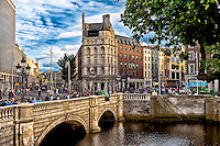 A view across the Liffey River in the City of Dublin.