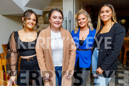 Enjoying the evening in Bella Bia on Friday night<br /> L to r: Leah Ryan, Erin Fitzgibbon, Atlanta Kennedy and Amy Maher.