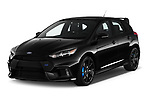 2017 Ford Focus RS 5 Door Hatchback Angular Front stock photos of front three quarter view