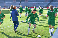 Aine O Gorman (13) of the Irish Republic pictured ahead of a friendly female soccer game between the national teams of Belgium , called the Red Flames and The Republic of Ireland , on sunday 11 th of April 2021  in Brussels , Belgium . PHOTO Dirk Vuylsteke | Sportpix.be | SPP