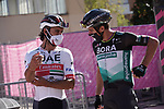 Peter Sagan (SVK) Bora-Hansgrohe at sign on before the start of Stage 11 of the 103rd edition of the Giro d'Italia 2020 running 182km from Porto Sant'Elpidio to Rimini, Italy. 14th October 2020.  <br /> Picture: LaPresse/Gian Mattia D'Alberto | Cyclefile<br /> <br /> All photos usage must carry mandatory copyright credit (© Cyclefile | LaPresse/Gian Mattia D'Alberto)