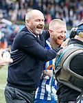19.05.2019 Kilmarnock v Rangers: Steve Clarke at Full time with Alan Power