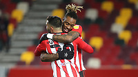 Saman Ghoddos celebrates scoring Brentford's third goal with Ivan Toney during Brentford vs Bristol City, Sky Bet EFL Championship Football at the Brentford Community Stadium on 3rd February 2021