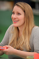 Hay on Wye. Friday 03 June 2016<br />Laura Bates signs copies of her book 'Girl Up' at the Hay Festival, Hay on Wye, Wales, UK