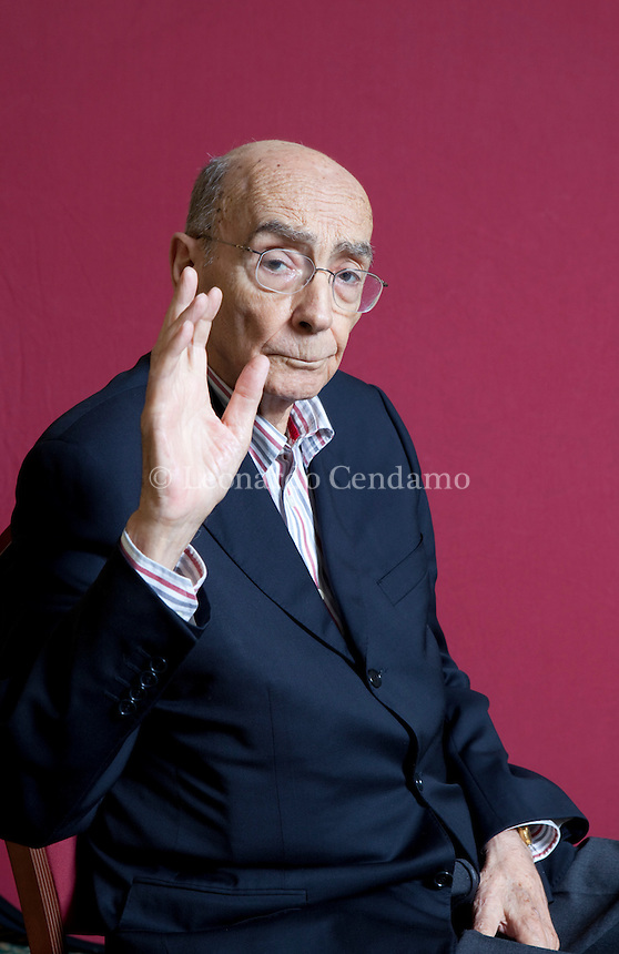 Milan, Italy, 2007. José Saramago, Portuguese writer, poet and literary critic, Nobel Prize for literature 1998. Author of 'The Gospel According to Jesus Christ', 'Blindness', 'The Year of the Death of Ricardo Reis'.