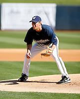 Tim Dillard - Milwaukee Brewers - 2009 spring training.Photo by:  Bill Mitchell/Four Seam Images