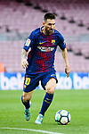 Lionel Andres Messi of FC Barcelona in action during the La Liga 2017-18 match between FC Barcelona and Las Palmas at Camp Nou on 01 October 2017 in Barcelona, Spain. (Photo by Vicens Gimenez / Power Sport Images