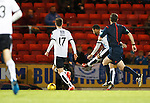 St Johnstone v Dundee....27.11.15  SPFL  McDiarmid Park, Perth<br /> Kane Hemmings puts Dundee 1-0 up<br /> Picture by Graeme Hart.<br /> Copyright Perthshire Picture Agency<br /> Tel: 01738 623350  Mobile: 07990 594431