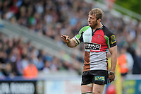 Chris Robshaw of Harlequins during the Aviva Premiership match between Harlequins and Leicester Tigers at The Twickenham Stoop on Saturday 21st April 2012 (Photo by Rob Munro)