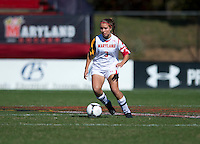 Aubrey Baker (3) of Maryland brings the ball upfield during the game at Ludwing Field in College Park, MD.  Florida State defeated Maryland, 1-0.