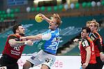 Gunnar Steinn Jonsson (FAG) am Ball beim Spiel in der Handball Bundesliga, Frisch Auf Goeppingen - Fuechse Berlin.<br /> <br /> Foto © PIX-Sportfotos *** Foto ist honorarpflichtig! *** Auf Anfrage in hoeherer Qualitaet/Aufloesung. Belegexemplar erbeten. Veroeffentlichung ausschliesslich fuer journalistisch-publizistische Zwecke. For editorial use only.