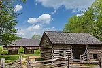 Barns at the Tipton Place in Cades Cove, Great Smoky Mountains National Park, TN, USA