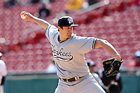 Empire State Yankees pitcher Cody Eppley #44 during a game against the Buffalo Bisons at Coca-Cola Field on April 12, 2012 in Buffalo, New York.  Empire State defeated Buffalo 7-2.  (Mike Janes/Four Seam Images)
