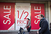 BHS store, January sales, Oxford Street, London.