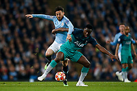 David Silva of Manchester City and Victor Wanyama of Tottenham Hotspur during the UEFA Champions League Quarter Final second leg match between Manchester City and Tottenham Hotspur at the Etihad Stadium on April 17th 2019 in Manchester, England. (Photo by Daniel Chesterton/phcimages.com)<br /> Foto PHC/Insidefoto <br /> ITALY ONLY