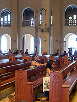 Inside the Baclaran Church in Manila, Philippines