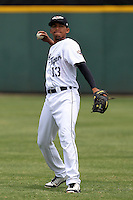 Lakeland Flying Tigers infielder Dixon Machado #13 before a game against the Daytona Cubs at Joker Marchant Stadium on April 29, 2012 in Lakeland, Florida.  Lakeland defeated Daytona 6-4.  (Mike Janes/Four Seam Images)
