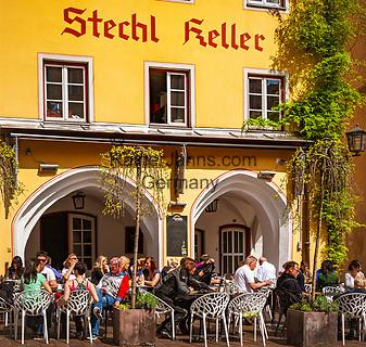 Deutschland, Bayern, Rosenheimer Land, Wasserburg am Inn: Restaurant Stechl Keller am Marienplatz | Germany, Bavaria, Rosenheimer Land, Wasserburg am Inn: Restaurant Stechl Keller on Marien square