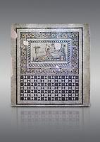 Roman mosaics. The Acratos & Eljprocvne Mosaic from The House of Maenad Zeugma.  2nd - 3rd century AD. Zeugma Mosaic Museum, Gaziantep, Turkey.