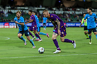 24th March 2021; HBF Park, Perth, Western Australia, Australia; A League Football, Perth Glory versus Sydney FC; Perth's Andy Keogh on the attack