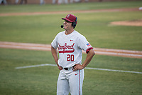 STANFORD, CA - MAY 27: Brendan Beck after a game between Oregon State University and Stanford Baseball at Sunken Diamond on May 27, 2021 in Stanford, California.