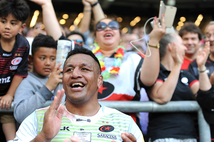 Mako Vunipola of Saracens after the Aviva Premiership Rugby Final between Exeter Chiefs and Saracens at Twickenham Stadium on Saturday 26th May 2018 (Photo by Rob Munro/Stewart Communications)