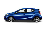 Car Driver side profile view of a 2017 Toyota Prius-c Four 5 Door Hatchback Side View