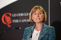Madeleine Paquin<br /> , LOgistec Corporation <br /> au Cercle canadien de Montreal, lundi 20 fevrier 2017.<br /> <br /> PHOTO : Agence Quebec Presse