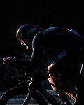 Dylan van Baarle (NED) Ineos Grenadiers in action during Stage 21 final stage of La Vuelta d'Espana 2021, an individual time trial running 33.8km from Padron to Santiago de Compostela, Spain. 5th September 2021.    <br /> Picture: Charly Lopez/Unipublic | Cyclefile<br /> <br /> All photos usage must carry mandatory copyright credit (© Cyclefile | Unipublic/Charly Lopez)