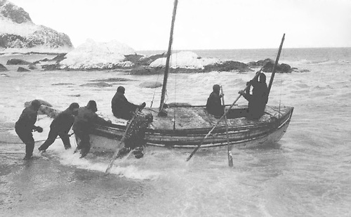 Job done. Without the luxury of sea trials of any kind, the Harry McNish-modified lifeboat James Caird was launched at Elephant Island on 24th April 1916, and immediately departed on the 600-mile passage across the Great Southern Ocean to South Georgia