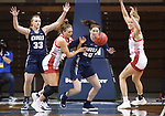SIOUX FALLS, SD - MARCH 6: Maddie Krull #42 of the South Dakota Coyotes during the Summit League Basketball Tournament at the Sanford Pentagon in Sioux Falls, SD. (Photo by Richard Carlson/Inertia)