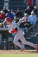 North Carolina State Wolfpack outfielder Jake Fincher #30 at bat during a game against the Coastal Carolina Chanticleers at BB&T Coastal Field on February 26, 2012 in Myrtle Beach, SC.  Coastal Carolina defeated N.C. State 3-2. (Robert Gurganus/Four Seam Images)