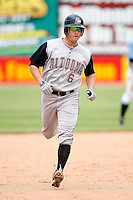 June 25, 2009:  Left Fielder Jeff Corsaletti (6) of the Altoona Curve rounds the bases after hitting a home run during a game at Jerry Uht Park in Erie, PA.  The Altoona Curve are the Eastern League Double-A affiliate of the Pittsburgh Pirates.  Photo by:  Mike Janes/Four Seam Images